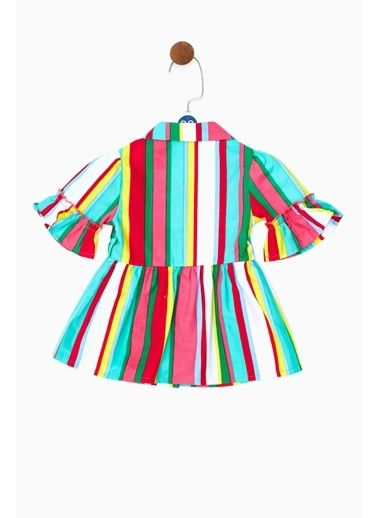 BG Baby Kız Bebek Çizgili Elbise 19SS0BG2905 Renkli